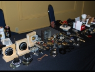 Half of the high security lock table, with various styles of high security locks, safes, and oddities from around the world.